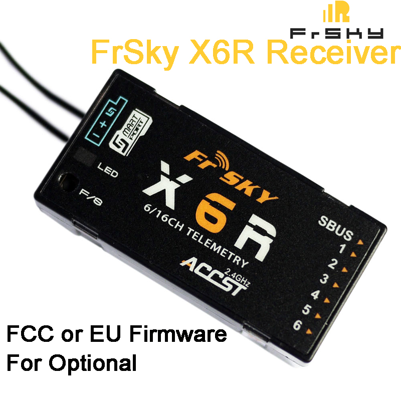FrSky X6R 6/16Ch S. BUS ACCST Télémétrie Récepteur W/Smart Port Taranis X9D/X9DPLUS, X10, X10S, QX7, X7S