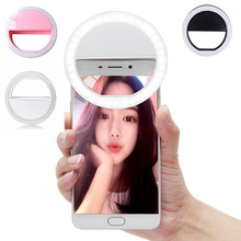 Luxury Universal LED Flash Light Up Selfie Luminous Phone Ring For iPhone 6 6S Plus LG