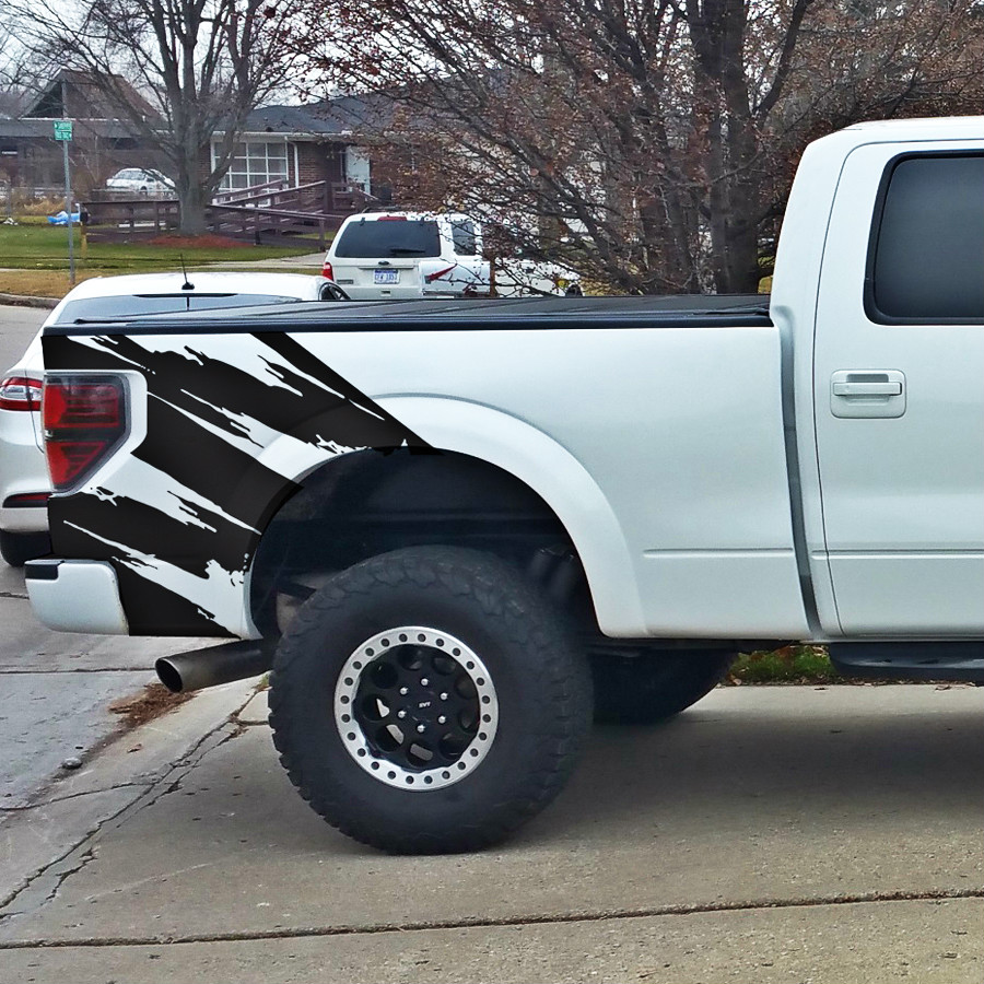 TORN body rear tail side graphic vinyl decals for Ford FORD F150 RAPTOR 2009 2010 2011 2013 2014