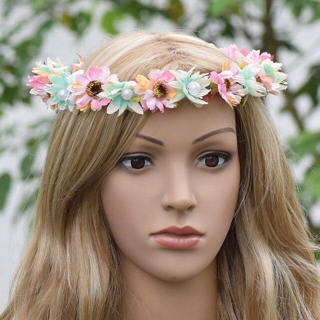 Bridal Flower Crown Flower Headband White Floral Crown Boho Fwedding ...