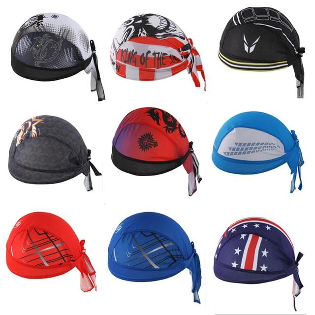 3f5fe8eedd9 Sweat Wicking Head Cover Cycling Cap Beanie Adjustable Head Wrap Chemo Hat  For Running Motor Cycling Biking Football