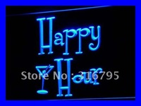 I558 Happy Hours Bar Pub ABERTO Beer LED Sign Neon Light On/Off Switch 20 + Cores 5 Tamanhos