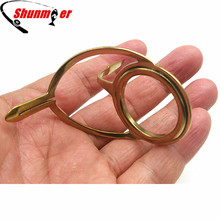 SHUNMIER 9Pcs Golden Stainless Steel Guide Rings DIY Telescopic Fishing Rod Distance Throw Rod Accessories Repairing Tips Rings