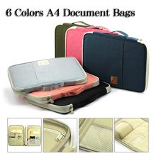 Multi-functional A4 Document Bags Portfolio Organizer Waterproof Travel Pouch Zippered Case for Ipads, Notebooks, Pens, Documen