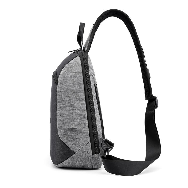 Nylon Unisex Chest Pack Single Shoulder Strap Back Bag Anti Theft Crossbody Bags