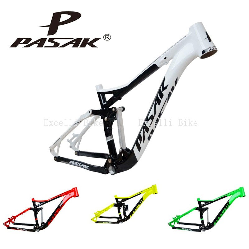 3-7005 Aluminum Alloy Cycling Frame Soft-tail Frame Full Suspension Downhill Mountain Bike26 27.5 Frame For Disc Oil Brake for 21 speeds30