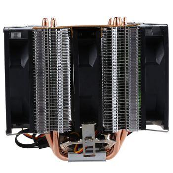 LANSHUO النحاس النقي 4 الحرارة الأنابيب ل 1366 1155 775 إنتل/AMD منصة متعددة وحدة المعالجة المركزية المبرد 3 سلك دون ضوء ثلاثة مشجعين