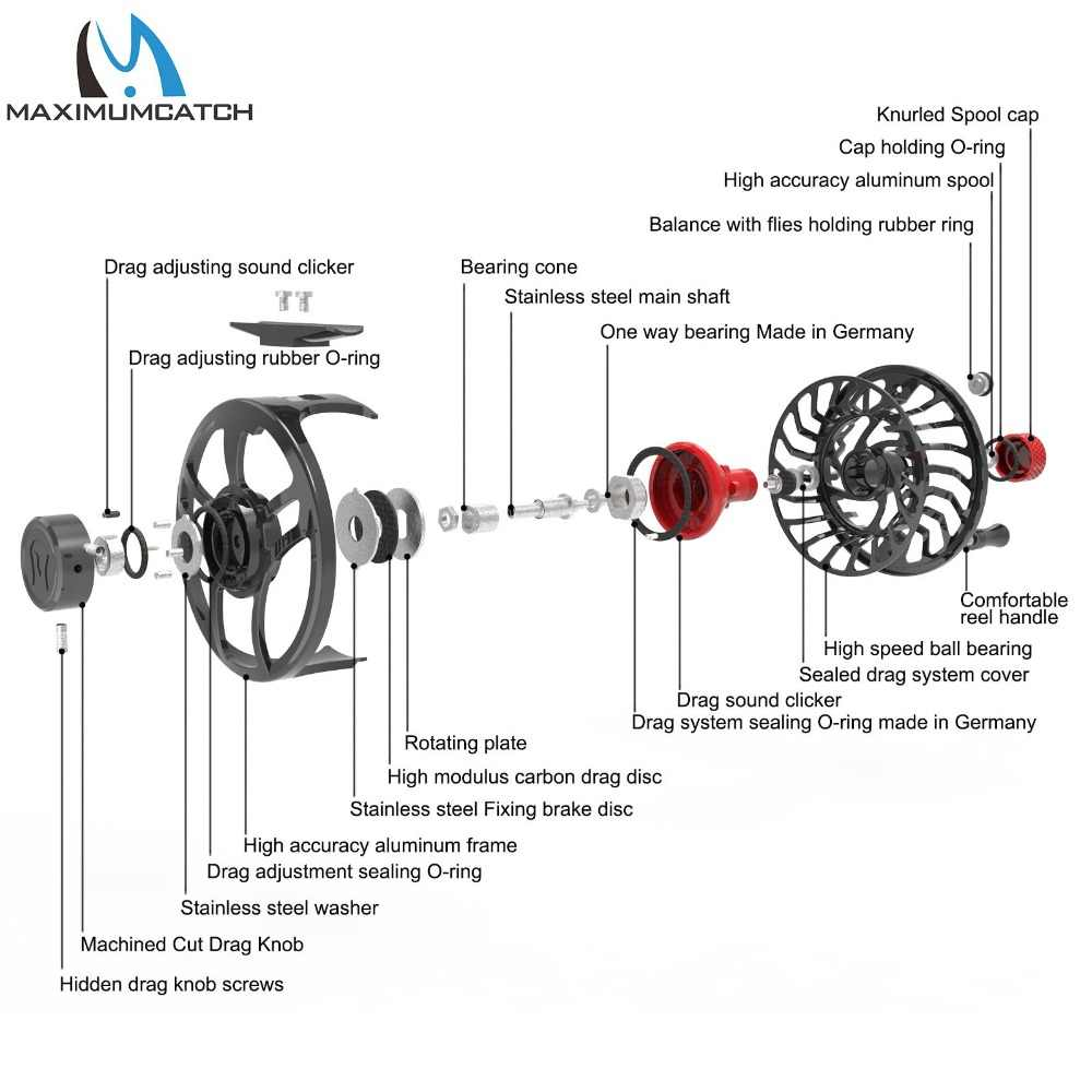 Maximumcatch Maxcatch Saltwater Fly Fishing Reel 100% Fully Sealed  Waterproof Super Light CNC Machined Aluminum Large Arbor