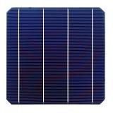 100ピース4.98ワット0.5ボルト20.4% effciencyグレードa 156*156ミリメートル太陽光モノラル単結晶シリコン太陽電池6 × 6用ソーラーパネル