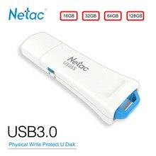 Netac USB флэш-диск 16 GB 32G 64 GB 128 GB USB3.0 физической защиты от записи Switcher оборудования заблокирован флэш-диск на ключ флешки