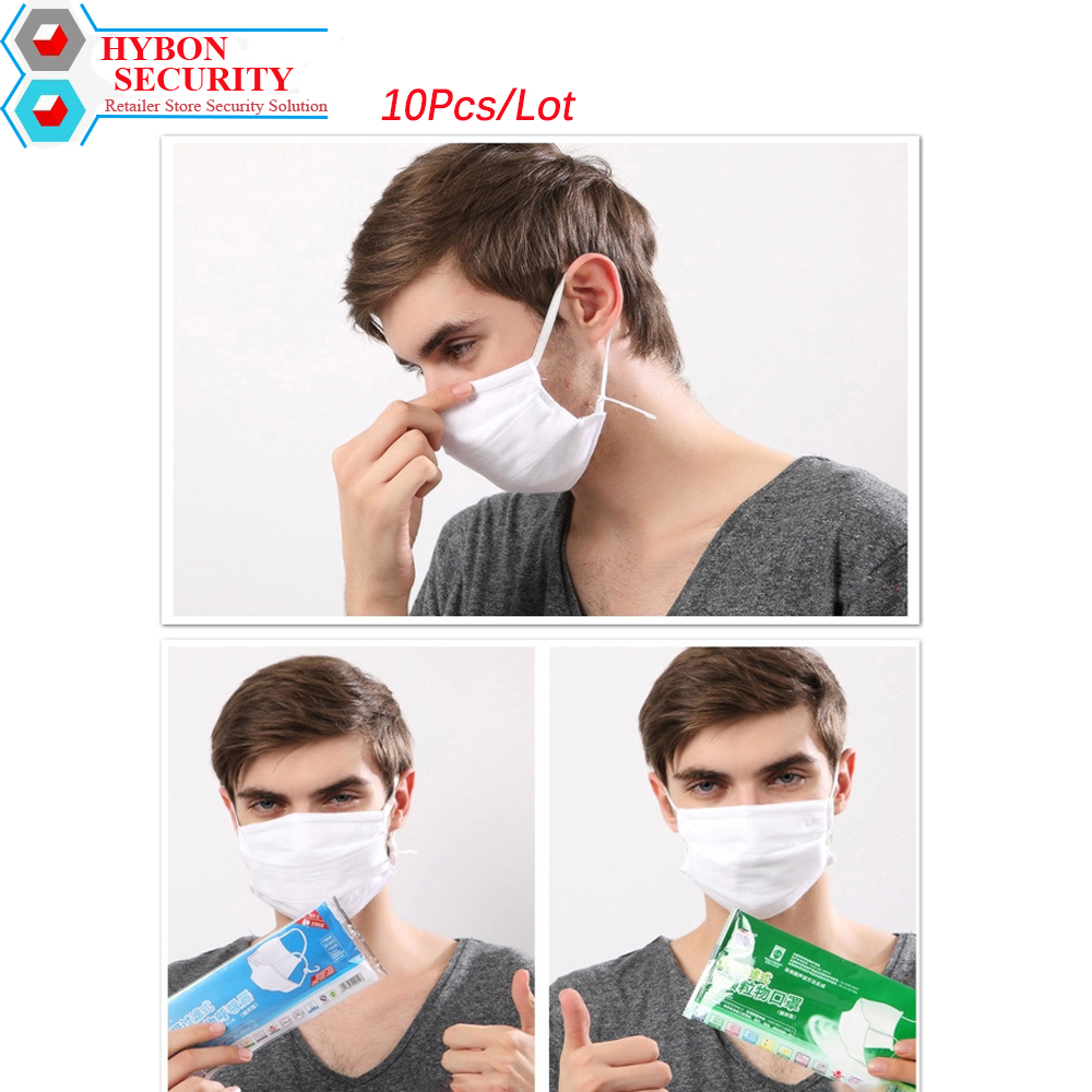 10Pcs/Lot Mouth Muffle Anti Dust Face Mask Anti Pollution Active Carbon Cotton For Cyclists PM2.5 Professional Medical Masks