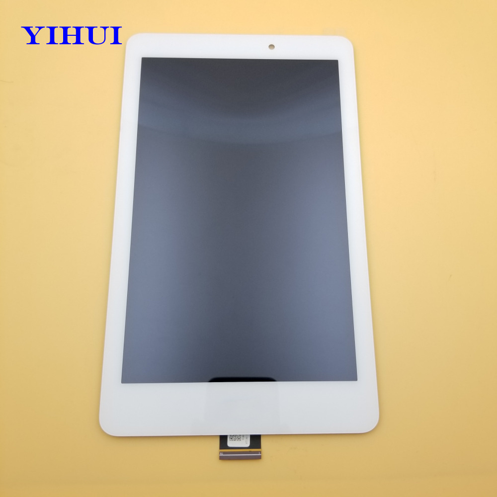 YIHUI For Acer Iconia Tab 8 A1-840 A1 840 A1-840HD Touch Screen Digitizer Glass+LCD Display Assembly White/Black free shipping wholesale price for acer liquid jade s55 lcd display digitizer touch screen for acer liquid jade lcd free shipping