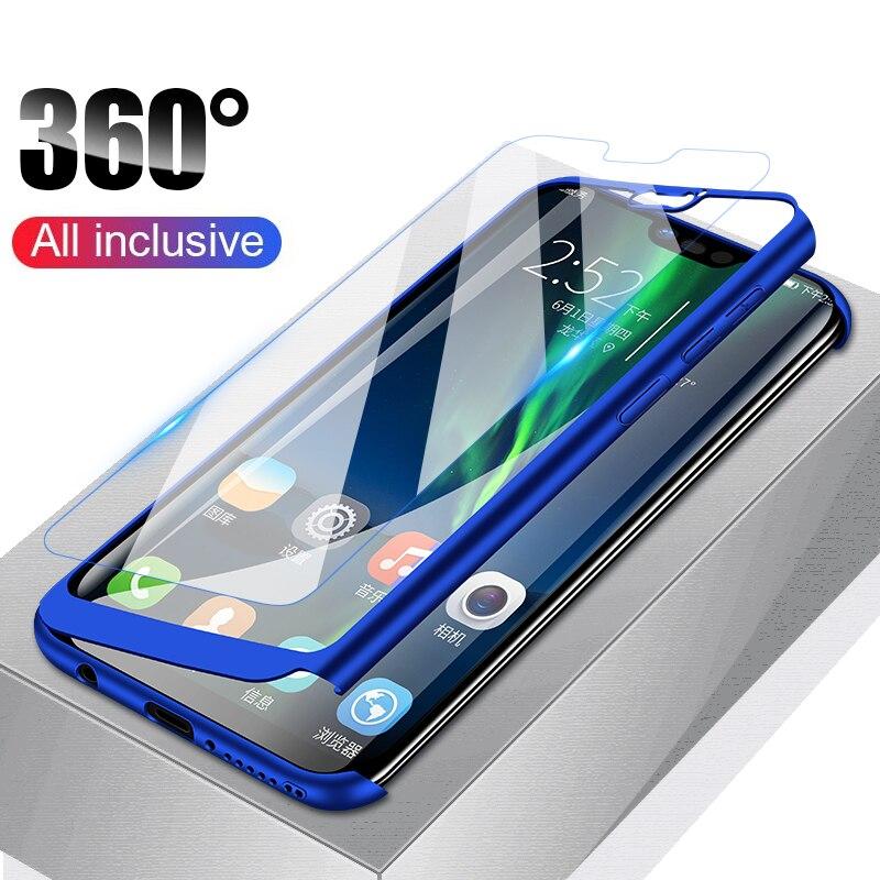 Di lusso 360 Della Copertura Completa della Cassa Del Telefono Per Huawei P20 Lite P20 Pro P20 Per Il Caso di Huawei Nova 3 3i 3e caso Della Copertura di Protezione Con Vetro