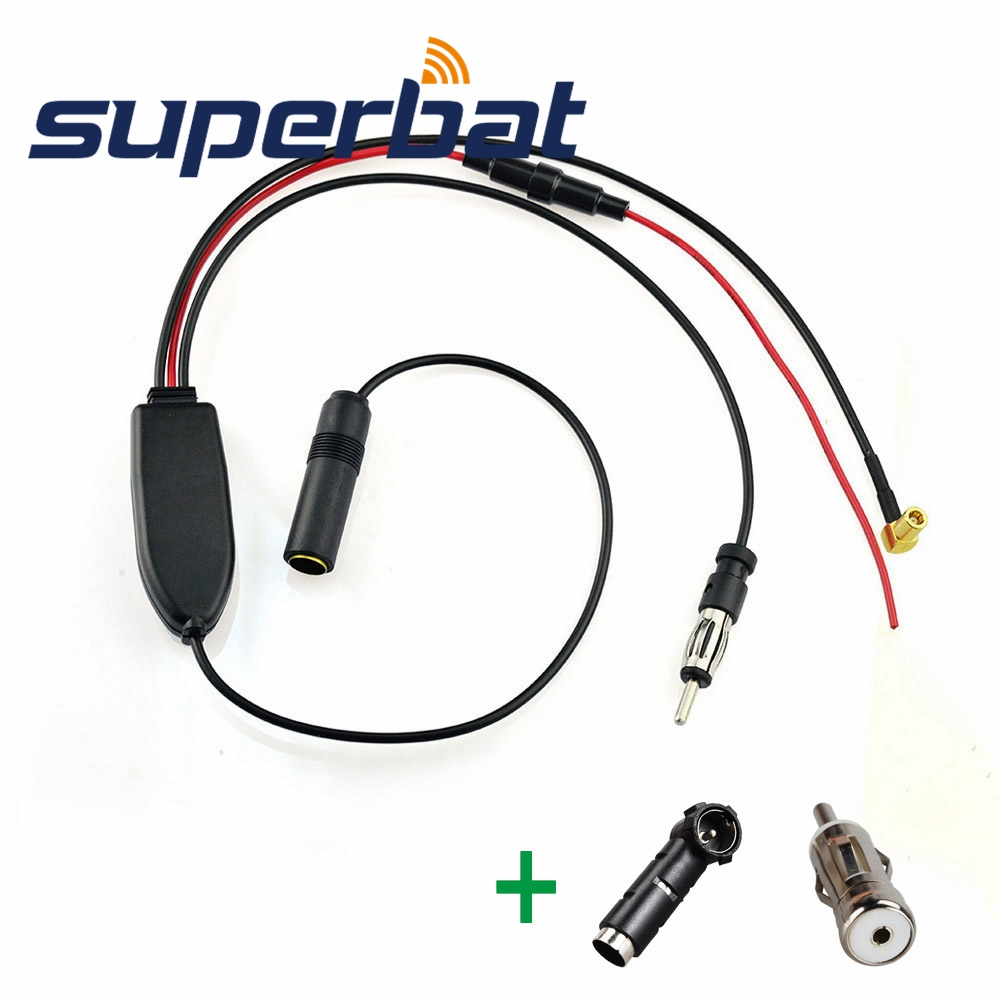FM//AM to DAB// DAB Car radio aerial converter//splitter cable with ISO Adapter