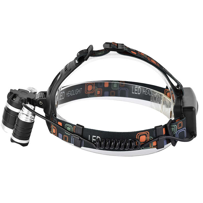 10000LM задний фонарь XM-L T6 + 2 Q5 светодиодный головной свет 4 режима Перезаряжаемые головка фонаря лампа головка фонаря лампы + Автомобильное Зарядное устройство + Батарея