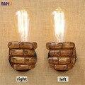 IWHD Лофт стиль смола кулак винтажные Настенные светильники промышленный ветер Эдисон бра лестница прикроватная настенная лампа освещение