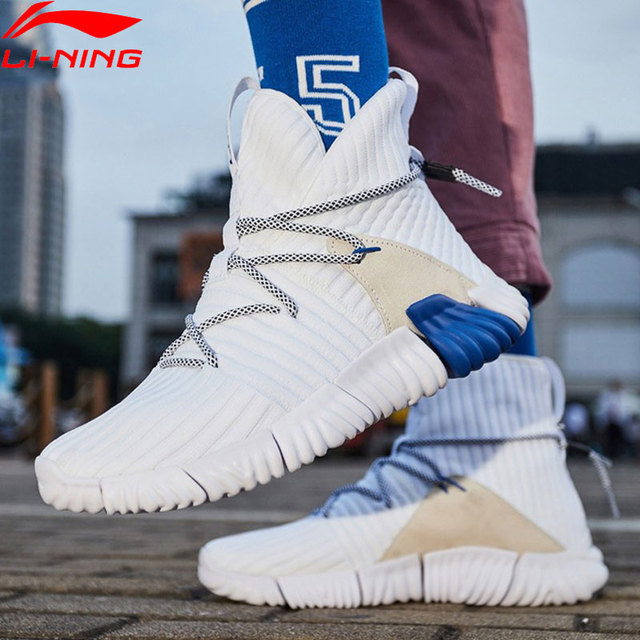 (Break Code)Li Ning Men WUKONG Lifestyle Shoes High Cut Mono Yarn Re fit LiNing li ning Sport Shoes Sneakers AGLN131 YXB237