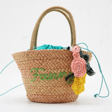 New Embroidery Womens Handbag Fashion hand-woven corn fur weaving ladies hand bags Vacation travel beach womens handbag