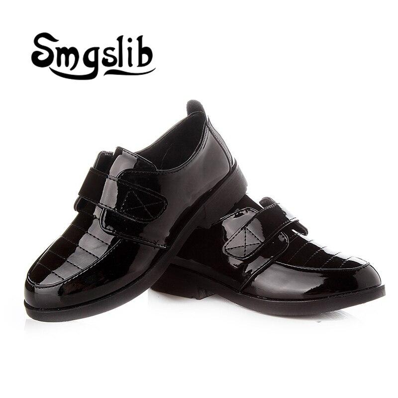 buty dla dzieci Chłopcy Płaskie skórzane buty czarne białe - Obuwie dziecięce - Zdjęcie 2