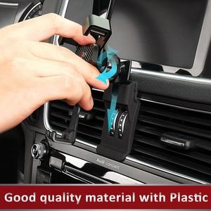 Image 5 - 자동차 전화 마운트 ABS GPS 모바일 홀더 환기 자석 셀 스탠드 아우디 A3 8V A4 B9 A5 A6 C7 Q3 Q5 인테리어 액세서리