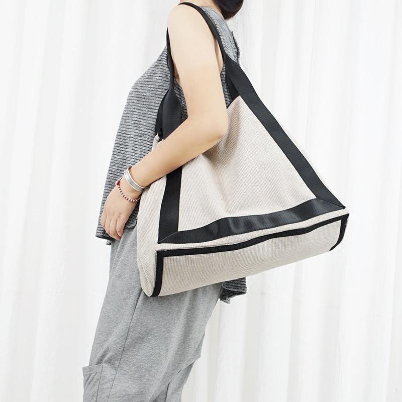 2019 women large cotton handbags canvas patchwork bags vintage causal shopping bag cloth handmade bags