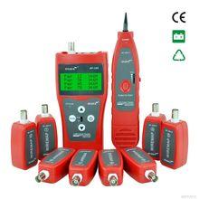 Сетевой кабель тестер Кабеля tracker RJ45 кабельный тестер NF-388 Английская версия Аудио Кабельный Тестер Красный цвет