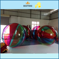 Top quality inflatable PVC/TPU Colorful inflatable jumbo water ball,inflatable water walking ball,walk on water ball