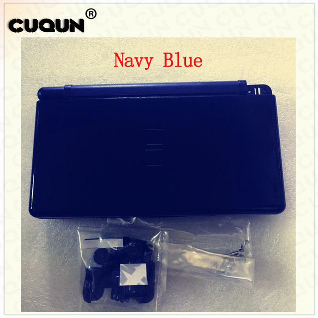 5 Color Available Premium Hard Shell Case Full Housing For Nintend  Lite navy blue/pure silver Pink Game cartridge shell cover