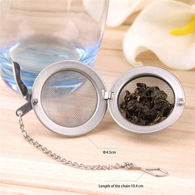 Tea Infuser Herb-Strainer Ball Leaf Stainless-Steel Loose Mesh Locking-Tea 2inch ZX Secure