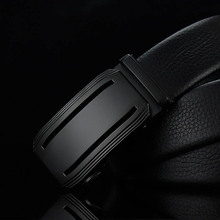 Classic mens business belt first layer leather simple quality luxury high metal automatic buckle