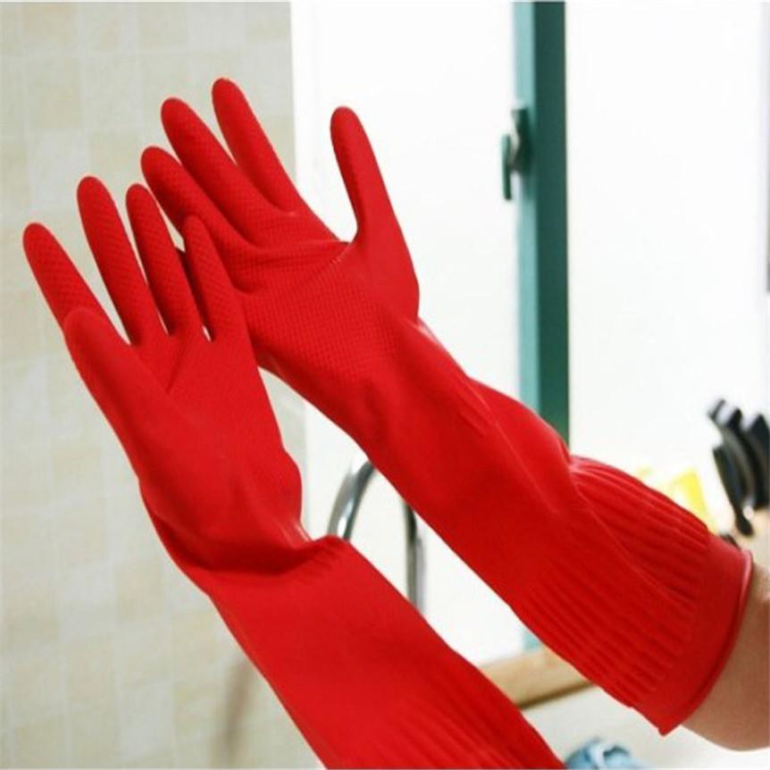 casa pi ampia in lattice di gomma lavastoviglie pulizia guanti lunghi da cucina domestica guanto nov24