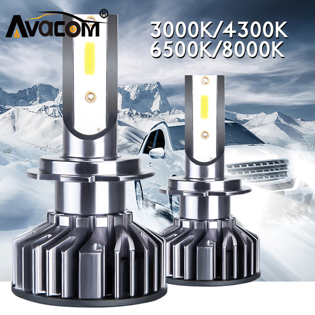 2Pcs LED H7 H1 4300K 3000K Car Headlight Bulb LED H4 Lampada LED H11 9005/HB3 9006/HB4 9012/Hir2 6500K 8000K 12V 24V 72W 10000LM