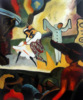 100 Hand Painted Ballet Dancer Oil Painting Abstract Russian Ballet By August Macke Art Painting Hotel