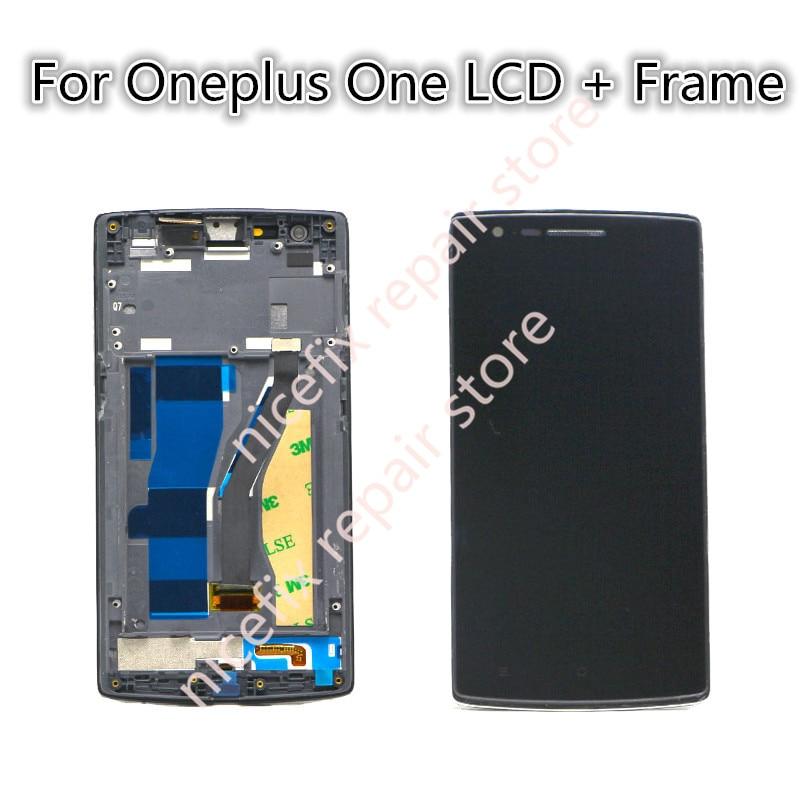 imágenes para Nuevo Para Oneplus 1 LCD Pantalla Táctil Digitalizador Asamblea para Oneplus Oneplus Uno A0001 1 Pantalla LCD + Frame reemplazo