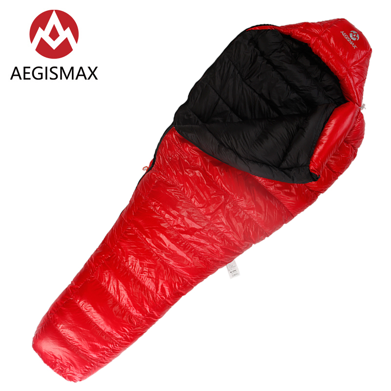 Aegismax C500 C700 Сверхлегкий Пеший Туризм Кемпинг Мумия 90% белая утка вниз спальный мешок зима Демисезонный 650FP