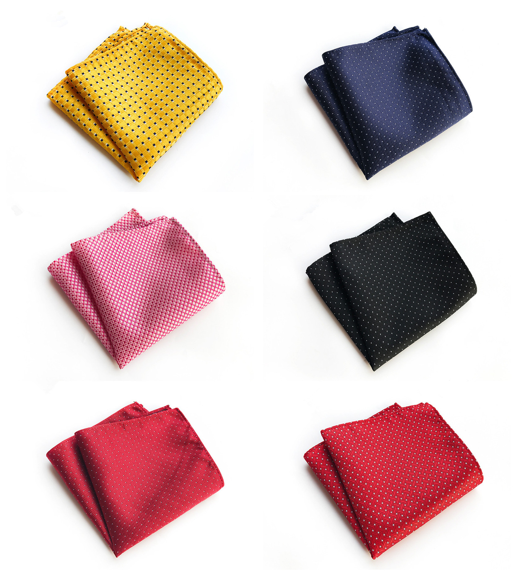 Unique Design Solid Color Dot Business Dress Decorative Pocket Towel Fashion Explosion Models 25x25cm Polyester Pocket Towel
