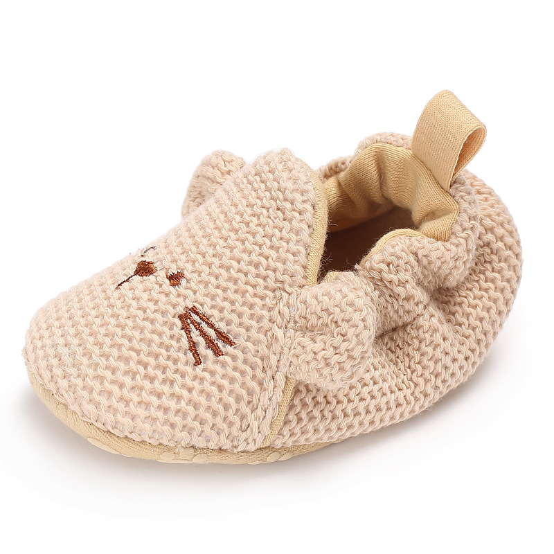 Baby Boys Girls Bear PAW Animal Slipper Boots Toddler Infant Crib Shoes First Walking Prewalker Shoes Brown Plush Furry House Slippers For 12-18 Months Anti-slip Soft Sole Sneaker