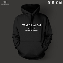 World's best dad word design Customize men unisex pullover hoodie heavy hooded sweatershirt 100% organic cotton Free Shipping