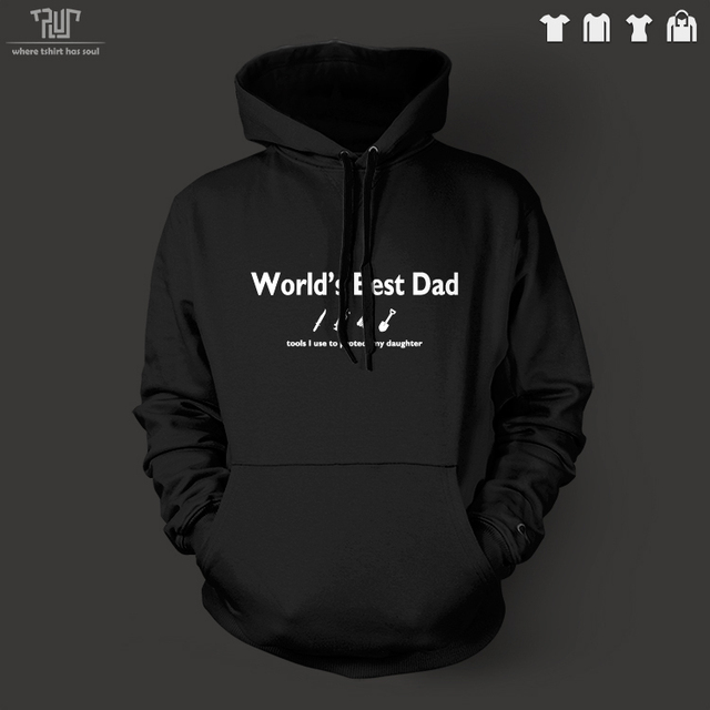 World s best dad word design Customize men unisex pullover hoodie heavy  hooded sweatershirt 100% organic cotton Free Shipping 098de96cbc00