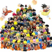 Single Dragon Ball Z Broly Super Sayayin Bulma Perfect Cell Goku Trunks Vegeta Model Building Blocks Gifts For Children Toys(China)