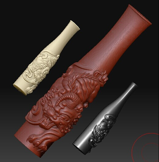 3D model relief for cnc in STL file format Dragon Tobacco pipe 1 relief for cnc in stl file format 3d panno herd model
