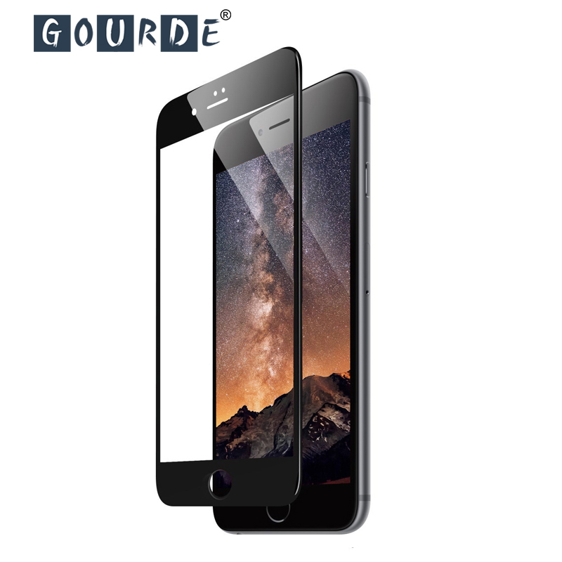 Gourde 5D Full Tempered Glass For Iphone 11 Pro MAX XR XS Round Edge Screen Protector For Iphone 7 6 Plus 6s 8 Plus XS Max Glass