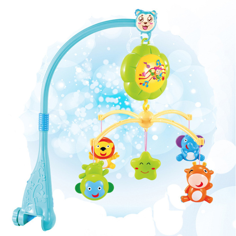 Baby Bed Bell Infant Toys Electric Remote Control Children Kids Music Ability Cultivate Toy Development Colorful Funny Gift push along walking toy wooden animal patterns funny kids children baby walker toys duckling dog cat development eduacational toy