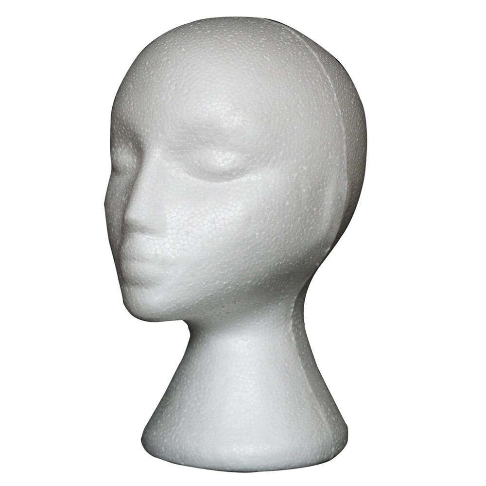 1pcs Styrofoam Model Heads Hat Wig DIsplay Foam Mannequin Head