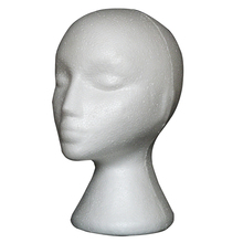 1pcs Styrofoam Model Heads Hat Wig DIsplay Foam Mannequin Head