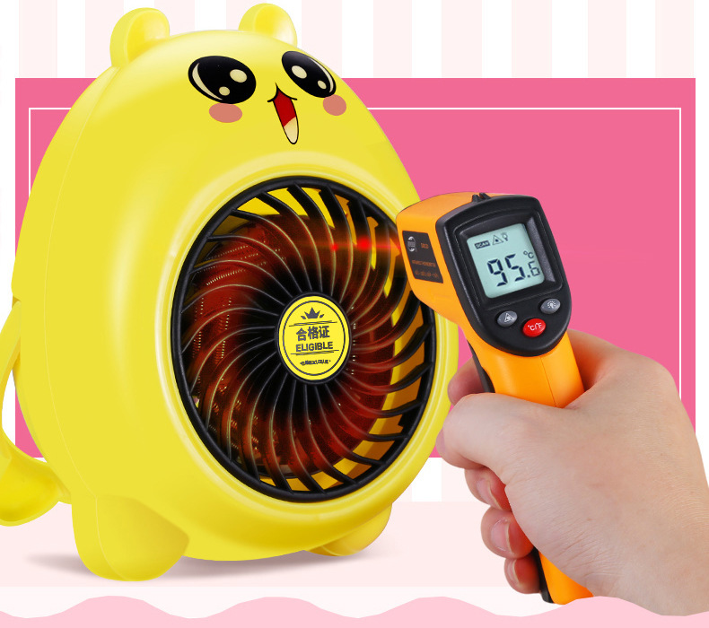 Dropshipping Cartoon Fan Heater Portable Handy Mini Personal Ceramic Space Heater Electric Stove Winter Warmer Fan electric portable heater handy durable mini room fan indoor ceramic space heater electric winter warmer fan for office home 220v