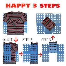 Качественная Волшебная папка для одежды для взрослых и детей, джемперы, органайзер, экономия времени, держатель для быстрой одежды
