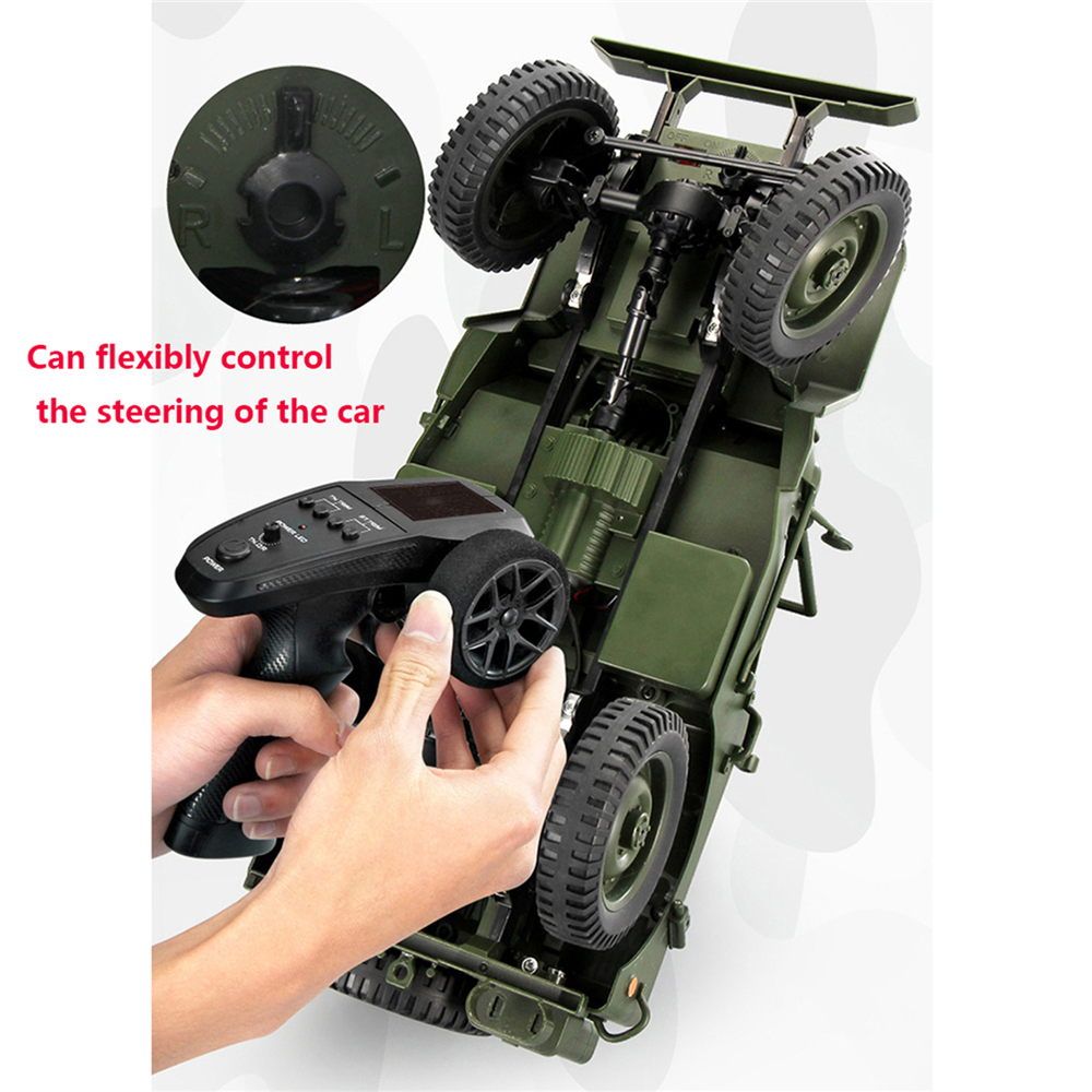 2.4G 1:10 Remote Control Car 4WD Convertible Jeep Willy Four wheel Drive Off road Military Truck Climbing Car Part Set-in Replacement Parts & Accessories from Consumer Electronics    1