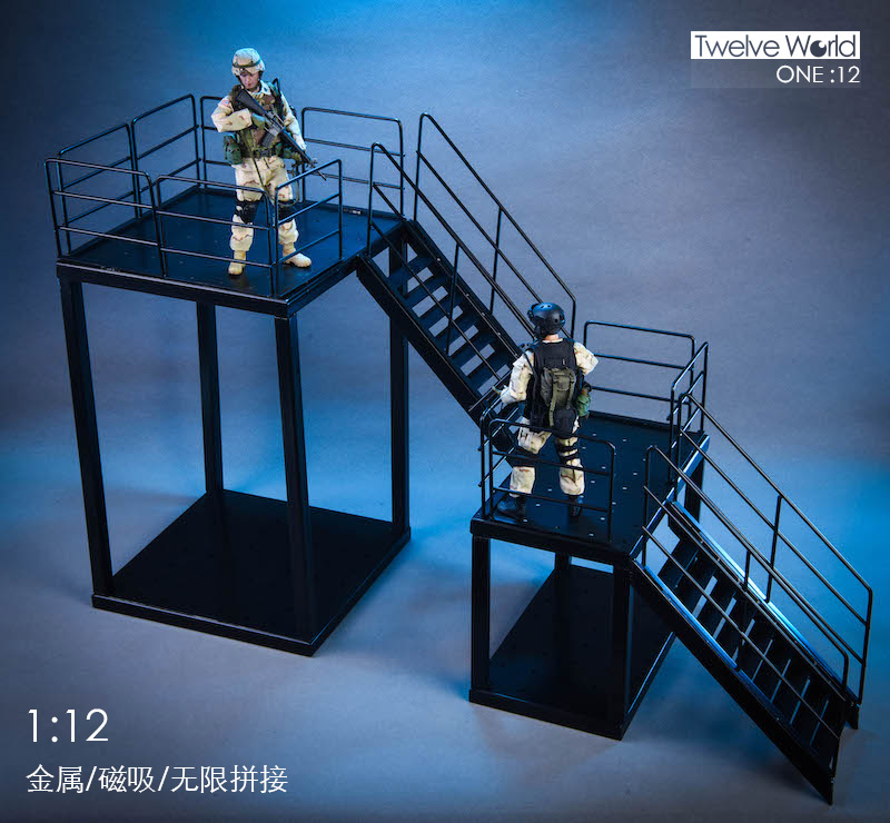 1//12th Scale Scene Accessories Model Metal Stairs TWTOYS TW1904A//B F 6/'/' Figure