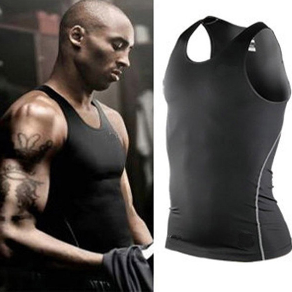 Lowest Price 7 Colors Pick Men Vest  Fitness Vest Tights Tank
